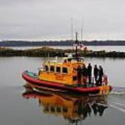 Rescue Boat Art Print