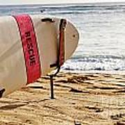 Rescue Surfboard Art Print