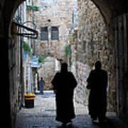 Residents Of Jerusalem Old City Art Print
