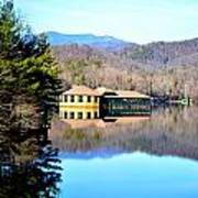 Restaurant Over Looking The Lake In North Carolina Art Print