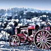 Retired Tractor Art Print by Suni Roveto