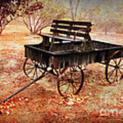 Retired Wagon 2 Art Print