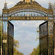 Retiro Park Entrance In Madrid Art Print