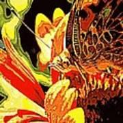 Retro Butterfly Art Print
