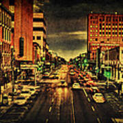 Retro College Avenue Art Print by Joel Witmeyer