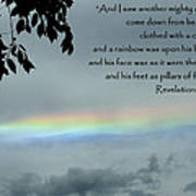 Revelation 10 Rainbow Art Print by Cindy Wright