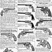 Revolvers And Pistols, 1895 Art Print