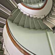 Revolving Stairs Art Print by Photo By Dasar