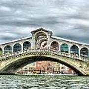 Rialto Bridge Over The Grand Canal Of Venice Art Print