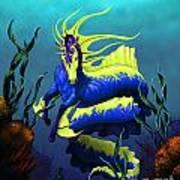Ribbon Hippocampus Art Print