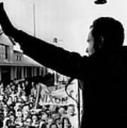 Richard Nixon Campaigning For Governor Art Print