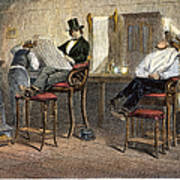 Richmond Barbershop, 1850s Art Print