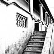 Richmond Stairs Bw Old Hostel Art Print