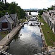 Rideau Canal And Locks - Ottawa Art Print