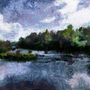 Rideau River View From A Bridge Art Print