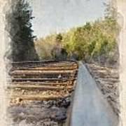 Riding The Rail II Art Print