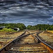 Riding The Tracks Art Print