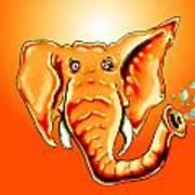 Ringo Party Animal Orange Art Print
