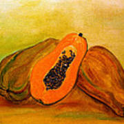 Ripe Papaya Art Print
