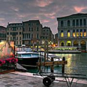 Riva Del Vin. Venezia Art Print