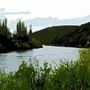 River Landscape Scene Art Print