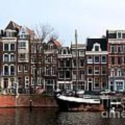 River Scenes From Amsterdam Art Print