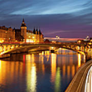 River Seine And The Concierge Art Print