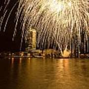 River Thames Fireworks Art Print