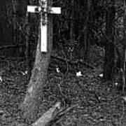 Road Death Cross- La Hwy 15- Louisiana Art Print