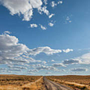 Road Near Ten Sleep Wyoming Art Print