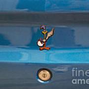 Road Runner Bird Emblem Art Print