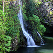 Road To Hana Waterfall Art Print by Pierre Leclerc Photography