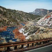 Road To Taos Village 1 Art Print by Lisa  Spencer