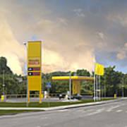 Roadside Gas Station Print by Jaak Nilson