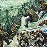 Roald Amundsen's Journey To The South Pole Art Print