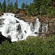 Roaring Falls Glen Alpine Falls Art Print