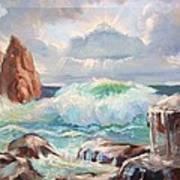 Roaring Waves Art Print