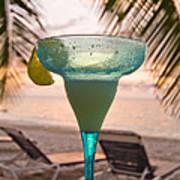Roatans West Bay, Tropical Drink Art Print
