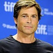 Rob Lowe At The Press Conference Art Print