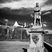 robert the bruce statue at stirling castle Scotland UK Art Print
