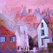 Robin Hoods Bay Dock Art Print by Neil McBride