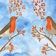 Robin Singing Competition Art Print