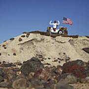 Robonaut 2 Poses Atop Its New Wheeled Art Print