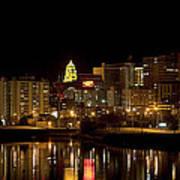 Rochester By Night Art Print