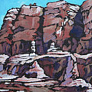 Rock Face Art Print by Sandy Tracey