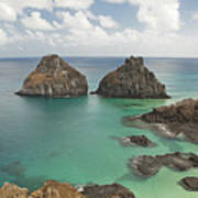 Rock Formation In Fernando De Noronha Art Print