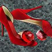 Rock Me Red Pom Poms Art Print