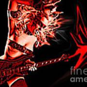Rock N Bleed Art Print