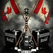 Rock N Roll Crest- Canada Art Print by Frederico Borges