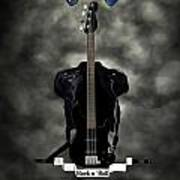 Rock N Roll Crest-the Bassist Art Print by Frederico Borges